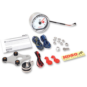 Electronic tachometer Koso Classic 10K dial white