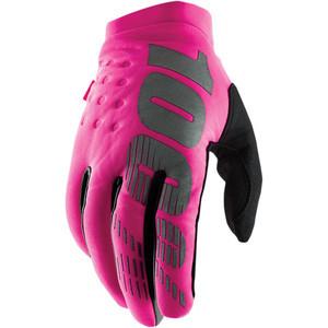 Guanti moto 100% Brisker rosa/nero