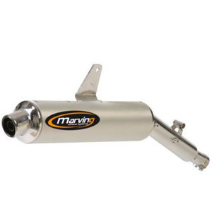 Exhaust muffler Honda XRV 650 Africa Twin Marving Amacal chrome