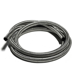 Fuel hose 10x14mm braided stainless steel