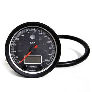 Electronic multifunction gauge AceWell Classic 263-AS 260Km/h black