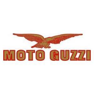 Adesivo Moto Guzzi 105x32mm oro/rosso