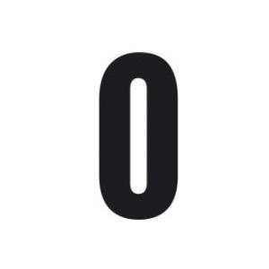 Set n.3 numeri adesivi grandi 0 nero