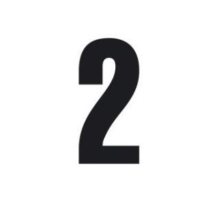 Set n.3 numeri adesivi grandi 2 nero