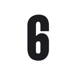 Set n.3 numeri adesivi grandi 6 nero