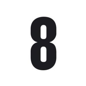 Set n.3 numeri adesivi grandi 8 nero