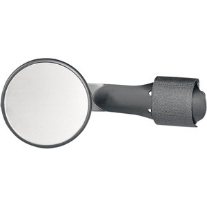 Rearview mirror bar-end Round mini regolabile black