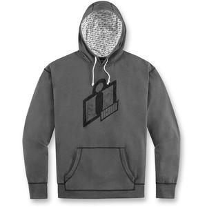 Sweatshirt Icon Double Hoody grey