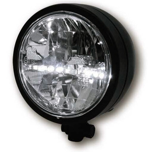 Full led headlight 4.5'' Highsider black matt