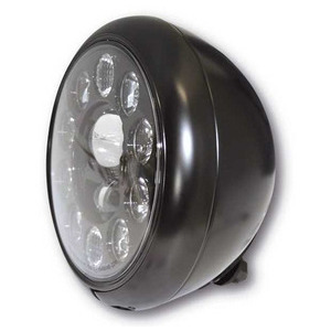 Full led headlight 7'' Harley-Davidson Highsider Type1 low mounting black matt