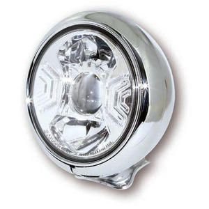 Full led headlight 7'' Highsider Modern low mounting chrome