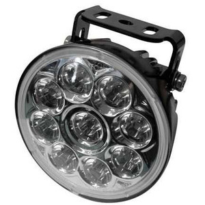 Additionial led headlight Highsider ABS high beam riflector chrome