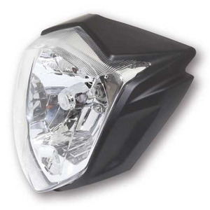 Halogen headlight Rius black