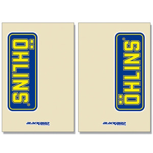 Coppia adesivi Ohlins 230x150mm