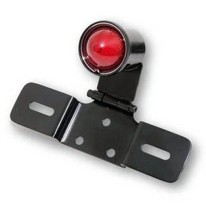 Led tail light Old School Type3 black license plate holder adjustable