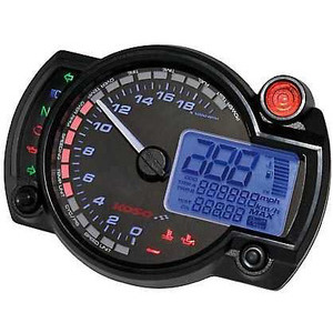 Electronic multifunction gauge Koso RX-2N 20K dial black