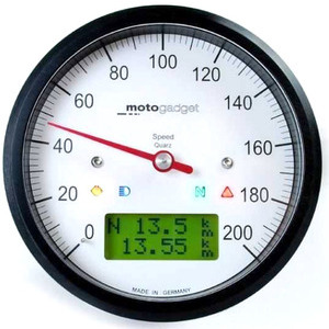 Electronic multifunction gauge Motogadget ChronoClassic Speedo 200Km/h