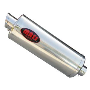 Exhaust muffler Mass Oval stainless steel