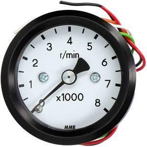 Electronic tachometer MMB Old Style mini 8K body black dial white