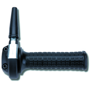 Throttle 22mm single-cable Tommaselli Ghepard black grips