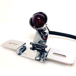 Led tail light Old School Type3 chrome license plate holder adjustable