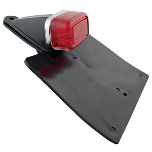 Halogen tail light Enduro license plate holder