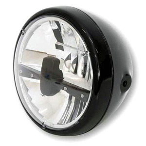 Full led headlight 7'' Highsider Reno Type 3 black polish