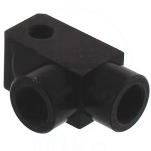 Banjo bolt connector 2 ways 90° M10x1 alloy black