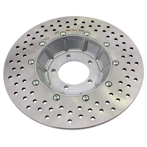 Brake disc BMW R 45 front rotor vented offset high