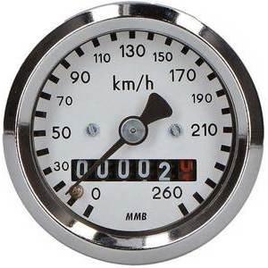 Contachilometri meccanico MMB Classic mini K=1 M16 corpo cromo fondo bianco
