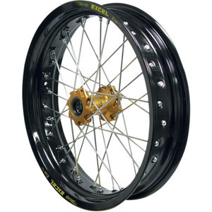 Complete spoke wheel 17''x3.50 front