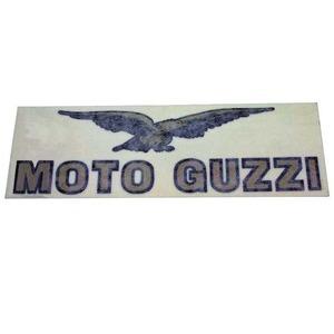 Adesivo Moto Guzzi 105x32mm oro/nero