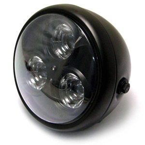 Full led headlight 6'' Cafe Racer black matt