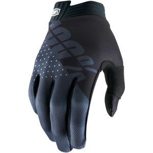 Guanti moto 100% I-Track nero/grigio