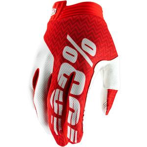 Guanti moto 100% I-Track rosso/bianco