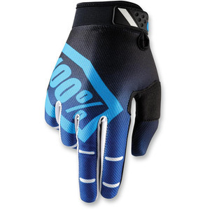 Gloves 100% Ridefit blue