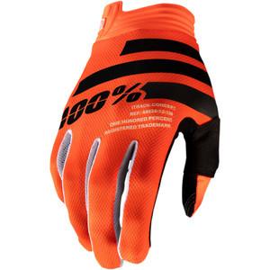 Guanti moto 100% I-Track arancione/nero