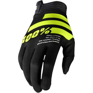 Guanti moto 100% I-Track nero/giallo