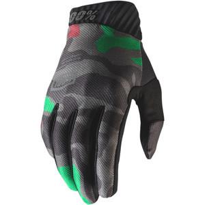 Guanti moto 100% Ridefit nero camouflage