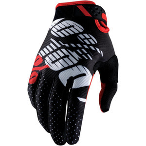 Gloves 100% Ridefit black/red