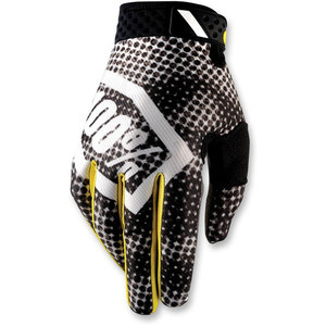 Gloves 100% Ridefit black/white