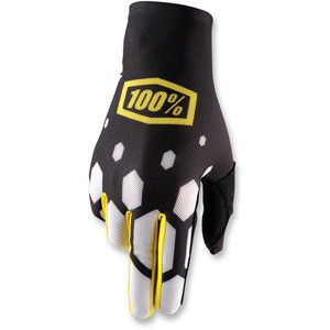 Gloves 100% Celium black/white