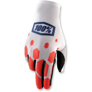 Gloves 100% Celium white/red