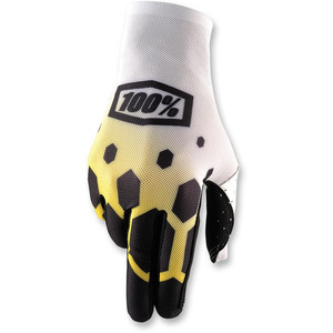 Gloves 100% Celium white/yellow