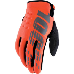 Gloves 100% Brisker orange