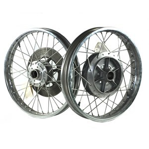 Complete spoke wheel Suzuki GS 400 pair