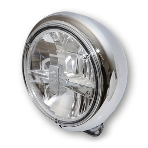 Full led headlight 7'' Highsider Reno low mounting chrome