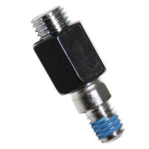 Adattatore filetto destro maschio-maschio M6x1-M10x1.5 nero