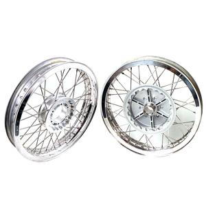 Complete spoke wheel kit Moto Guzzi Serie Grossa 17''x2.15 - 17''x2.50 CNC