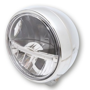 Full led headlight 5.3/4'' Highsider Jackson low mounting chrome
